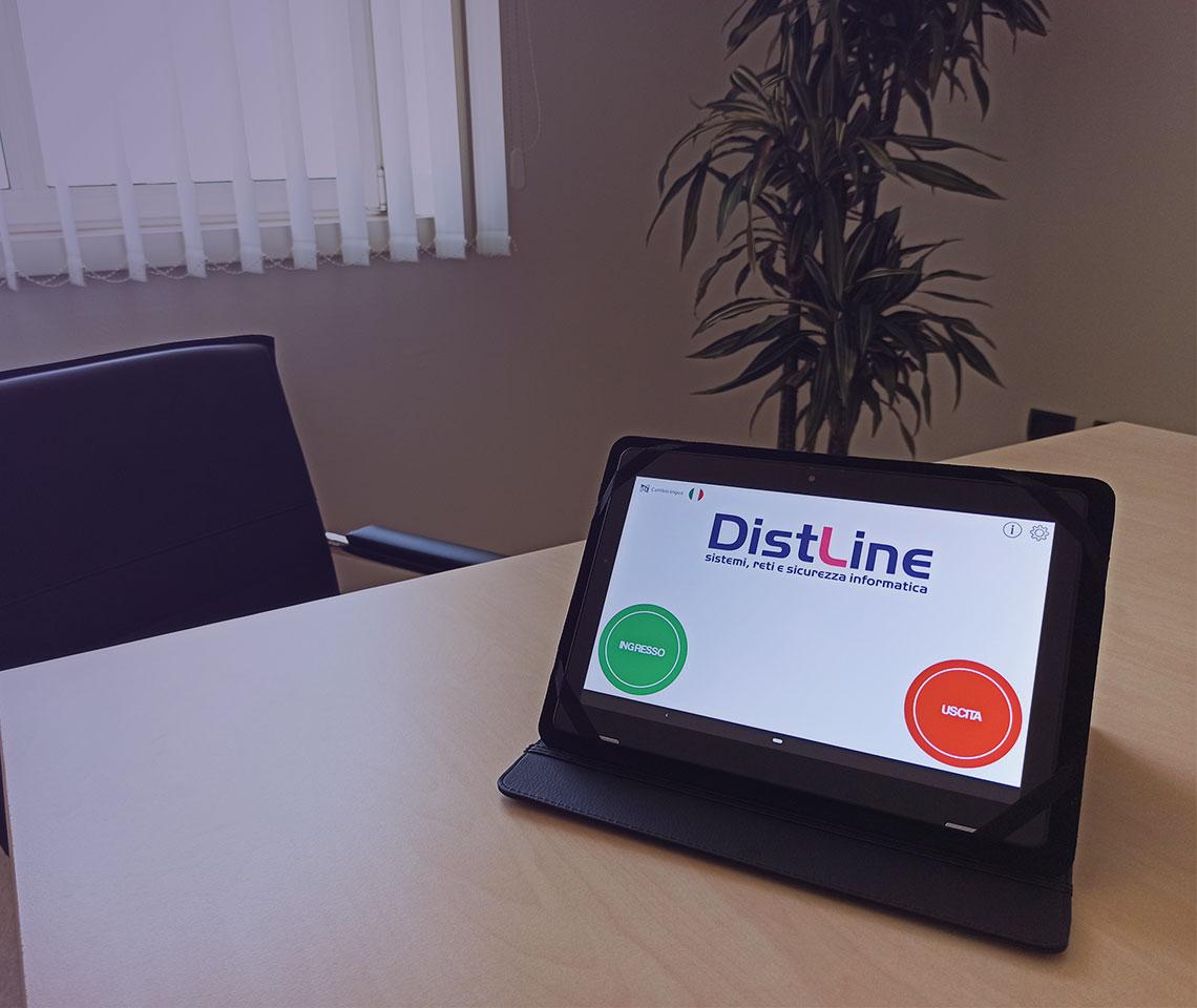 Distline gestione visitatori tablet